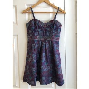 Free People Floral Tapestry Bustier Mini Dress
